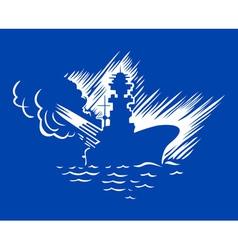 battleship vector image vector image