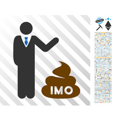 Businessman show imo shit flat icon with bonus vector