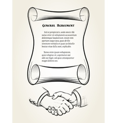 General agreement vector image vector image