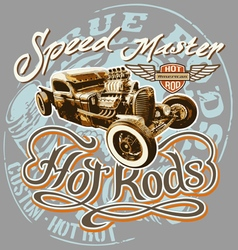 hot rod speed vector image