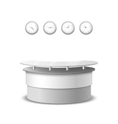 realistic reception counter vector image