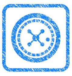 roulette framed grunge icon vector image