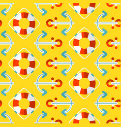 Summer seamless pattern marine vector