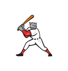 Black Panther Baseball Player Batting Isolated vector image vector image
