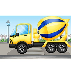cement truck vector image vector image
