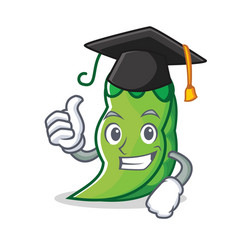Graduation peas character cartoon style vector