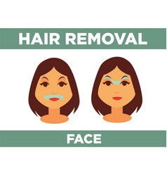 hair removal from face promotional poster with vector image vector image