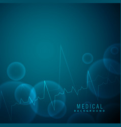 heartbeat science and medical background vector image