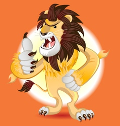 Lion king of beast mascot vector