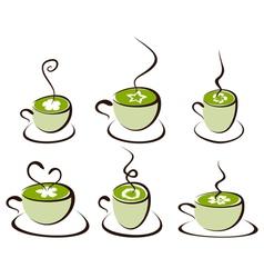 mug with tea vector image