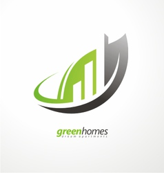 Real estate agency graphic design idea vector image