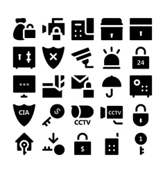 Security icons 3 vector