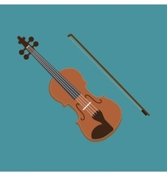 Violin icon of the musical vector image vector image