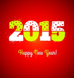 2015 on red background vector image