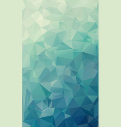 abstract natural green geometric background vector image