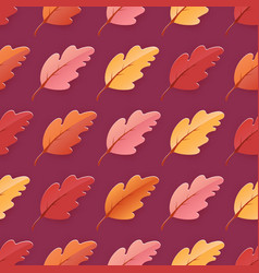 autumn leaves seamless background fall pattern vector image