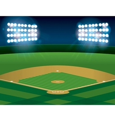 Baseball Field at Night vector image