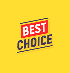 best choice special offer yellow background banner vector image