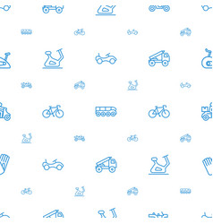 Bicycle icons pattern seamless white background vector