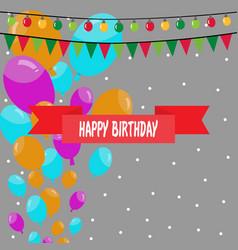 Birthday balloons beautiful background vector