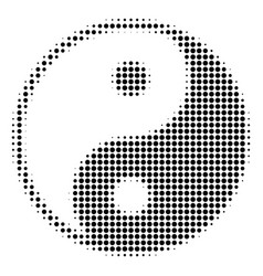 black dot yin yang icon vector image