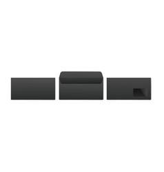 black realistic post paper envelopes for business vector image