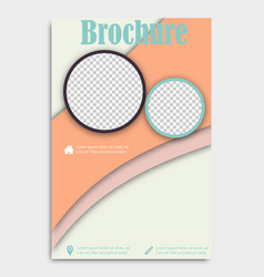 Blank flying cover of magazine book booklet vector