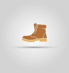 boot men shoe isolated icon vector image