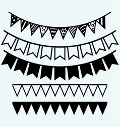 Bunting and garland vector