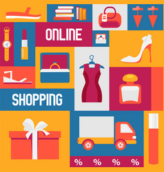 buying clothes in online shop vector image