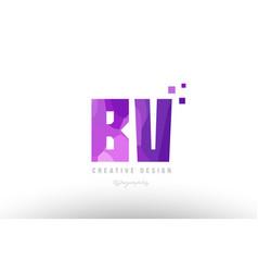 Bv b v pink alphabet letter logo combination with vector