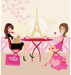 Cafe in paris vector