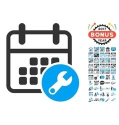Calendar Setup Icon With 2017 Year Bonus vector