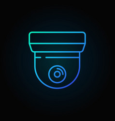 cctv blue sign or icon in thin line style vector image