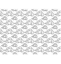 chinese cloud seamless pattern line style vector image