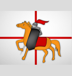 Christian st george day vector