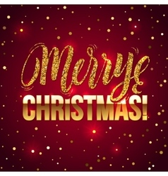Christmas card gold sparkles on white background vector