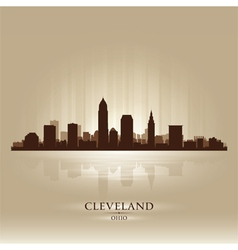 Cleveland ohio skyline city silhouette vector