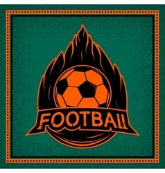 Color vintage and retro logo badge label football vector