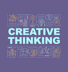 Creative thinking word concepts banner vector