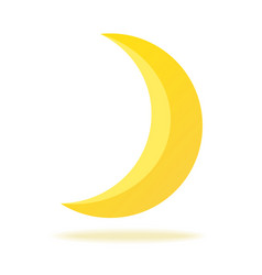 cute crescent isolated on white background half vector image