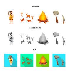 Design evolution and neolithic logo vector