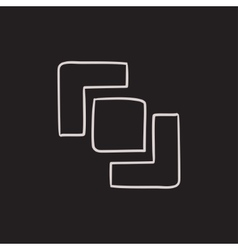 Divide sketch icon vector image