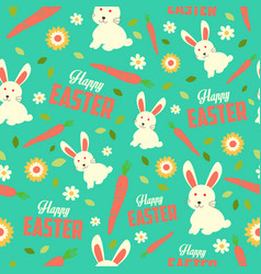 easter bunny and spring wallpaper seamless vector image