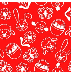 Easter muzzle pattern red vector