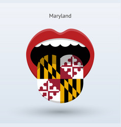 electoral vote maryland abstract mouth vector image