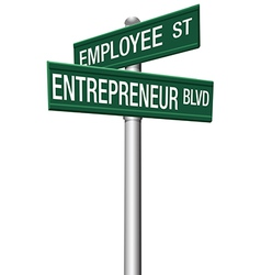 Entrepreneur Employee Street choice signs vector image vector image