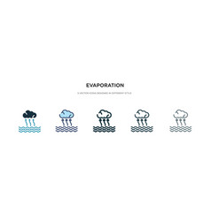 Evaporation icon in different style two colored vector