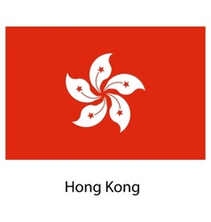 Flag of the country hong kong vector
