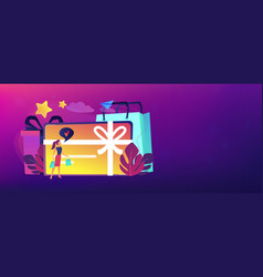 Gift card header banner vector